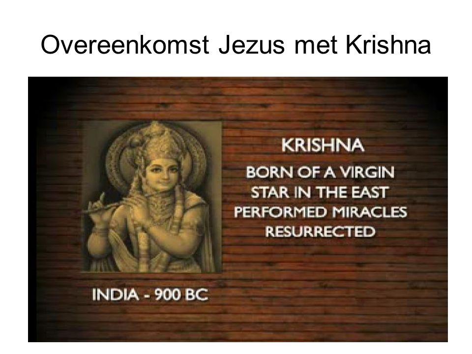 Overeenkomst Jezus met Krishna