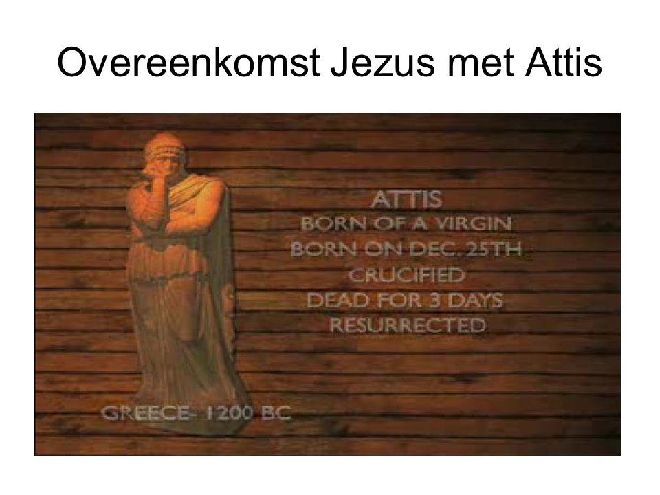 Overeenkomst Jezus met Attis