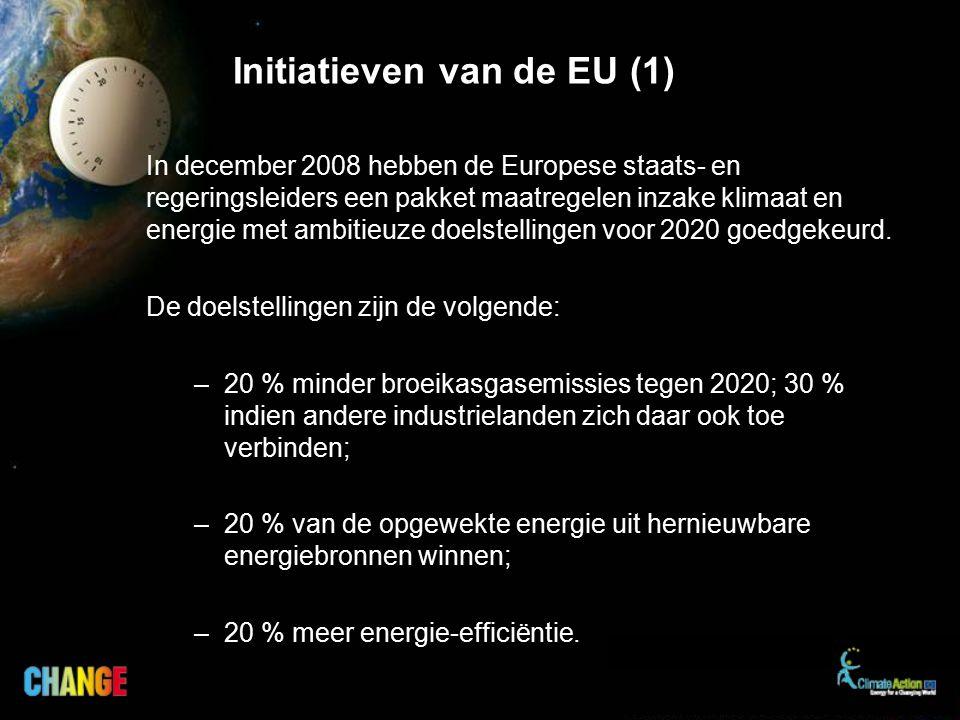 In december 2008 hebben de Europese staats- en regeringsleiders een pakket maatregelen inzake klimaat en energie met ambitieuze doelstellingen voor 2020 goedgekeurd.