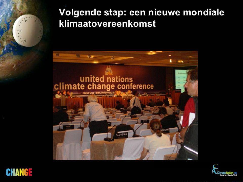 Volgende stap: een nieuwe mondiale klimaatovereenkomst