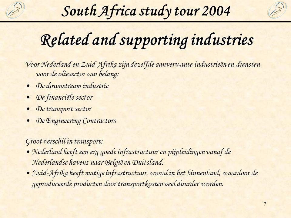 South Africa study tour 2004 8 Government Internationale relaties Zuid-Afrika - Relatief kort actief met buitenlandse politiek bezig - Lid van o.a.