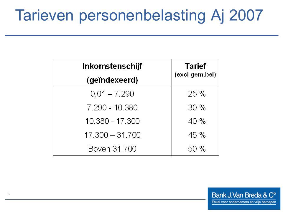 3 Tarieven personenbelasting Aj 2007