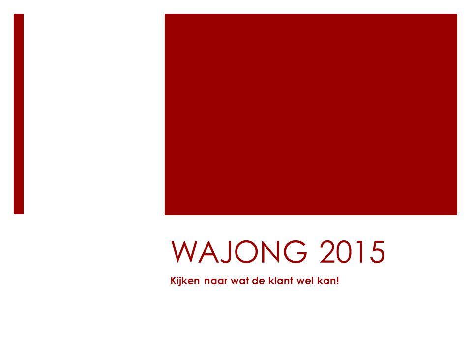WAJONG 2015 Kijken naar wat de klant wel kan!