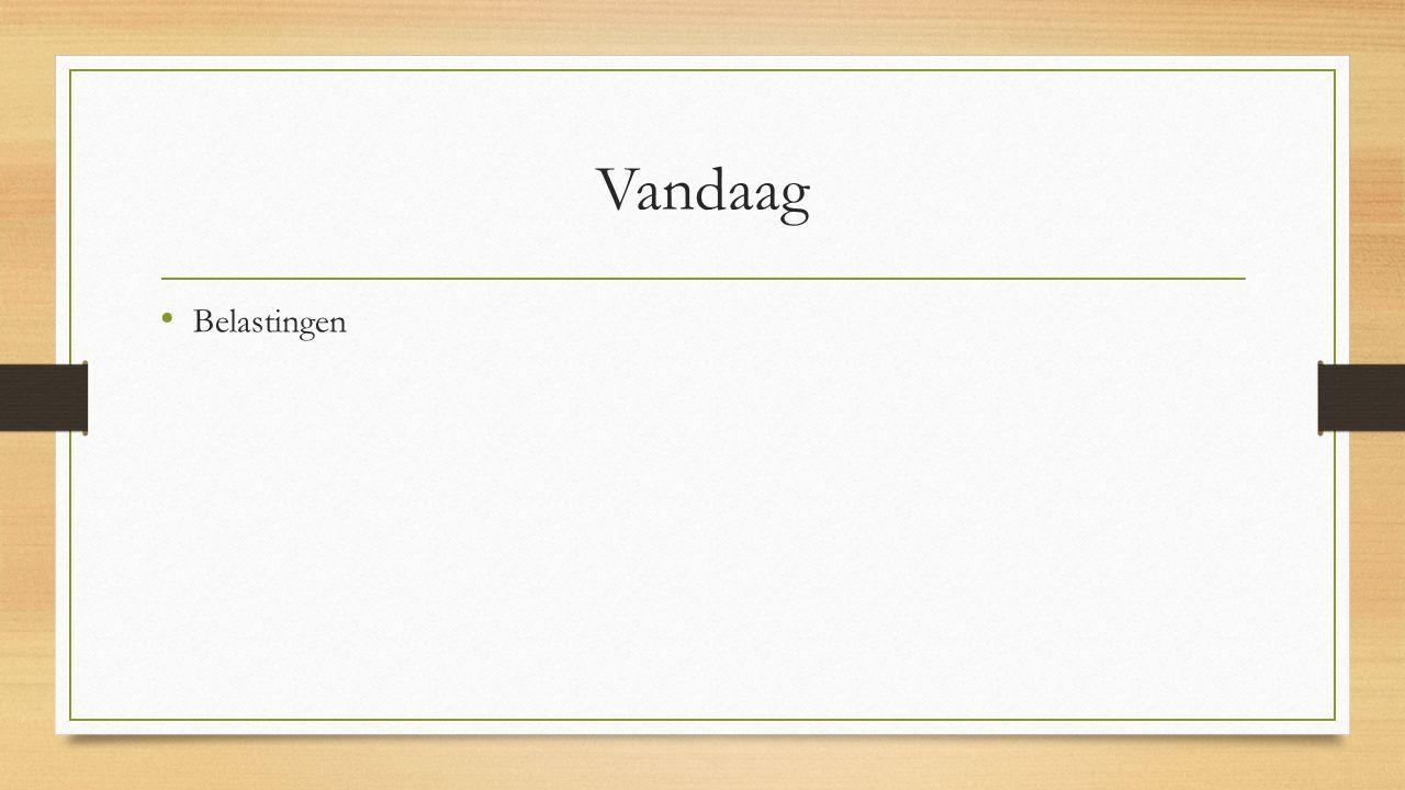 Inkomstenbronnen Overheid Boetes en bekeuringen Overheidsbedrijven Rechten Bijv.