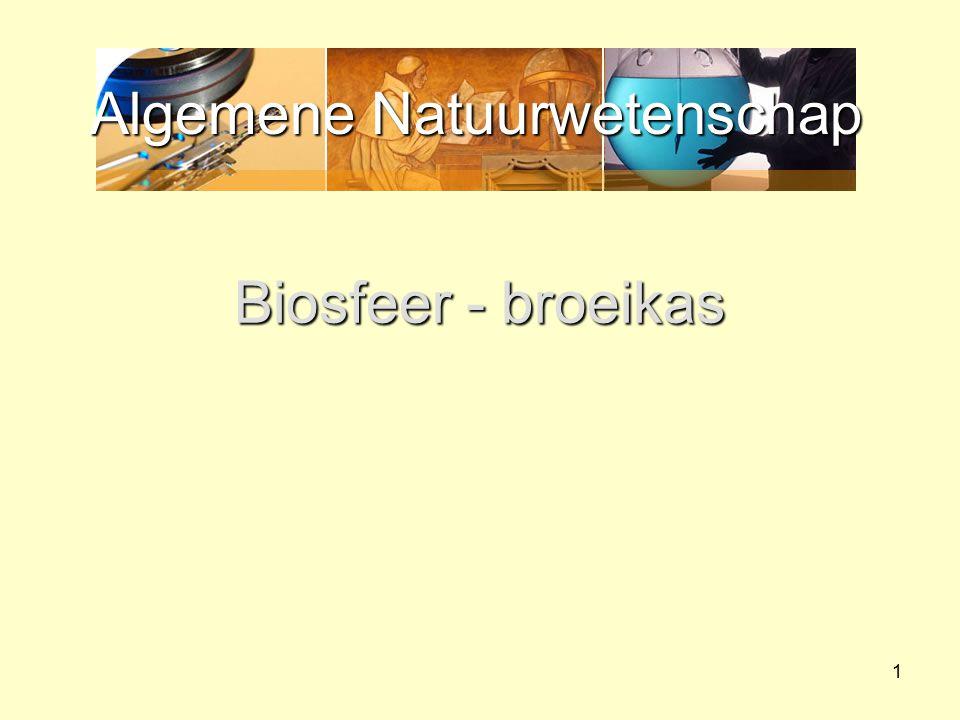 Algemene Natuurwetenschap 1 Biosfeer - broeikas