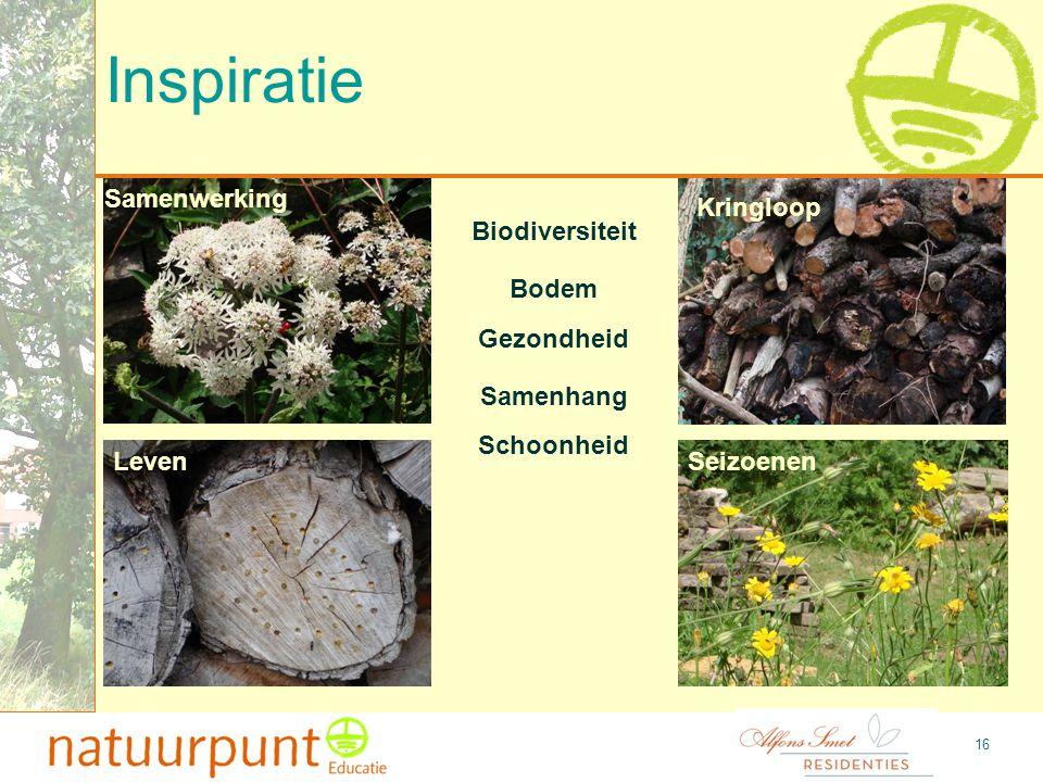 Afsluiting - Oproep 17 Wij zoeken: Enkele mensen die interesse hebben om de educatieve werking van een natuurtuin mee uit- en op te bouwen.