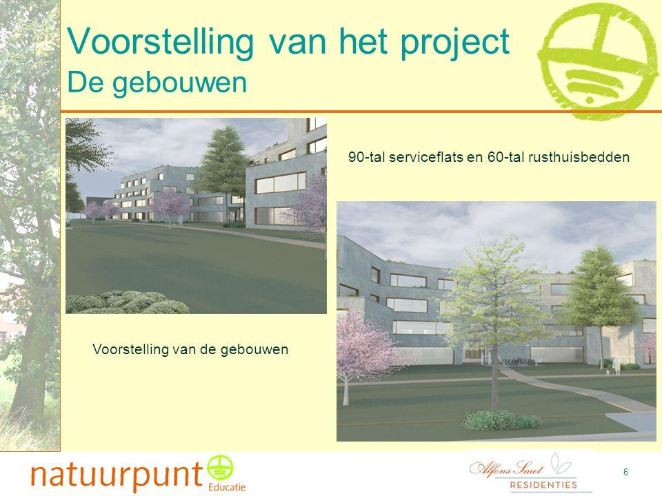 7 Voorstelling van het project Plattegrond inplanting gebouwen De gebouwen