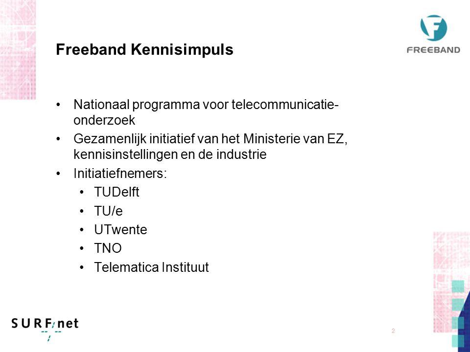 1 Freeband Test bed: de speeltuin voor draadloze communicatie in Nederland t.b.v. V&W Mobiele Informatiediensten Observer 10 april 2003, Oudaen Utrech