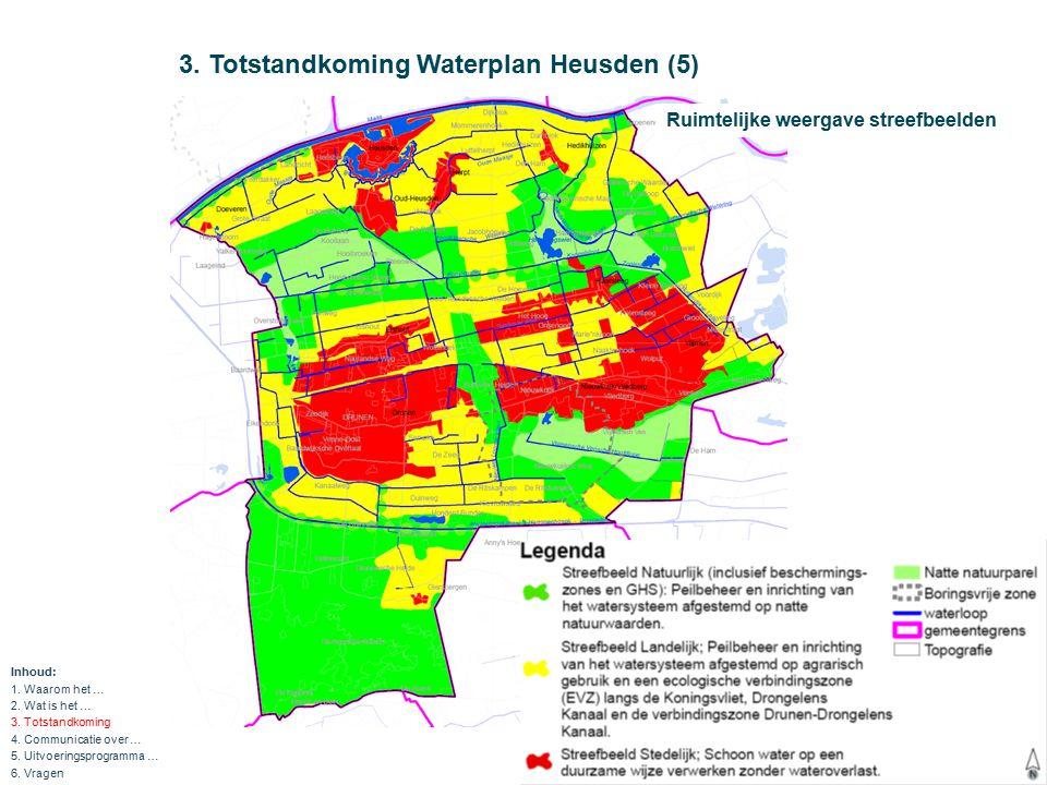 3.Totstandkoming Waterplan Heusden (6) KRW, NBW, WB21 Wet gemeentelijke watertaken (VGRP) etc.