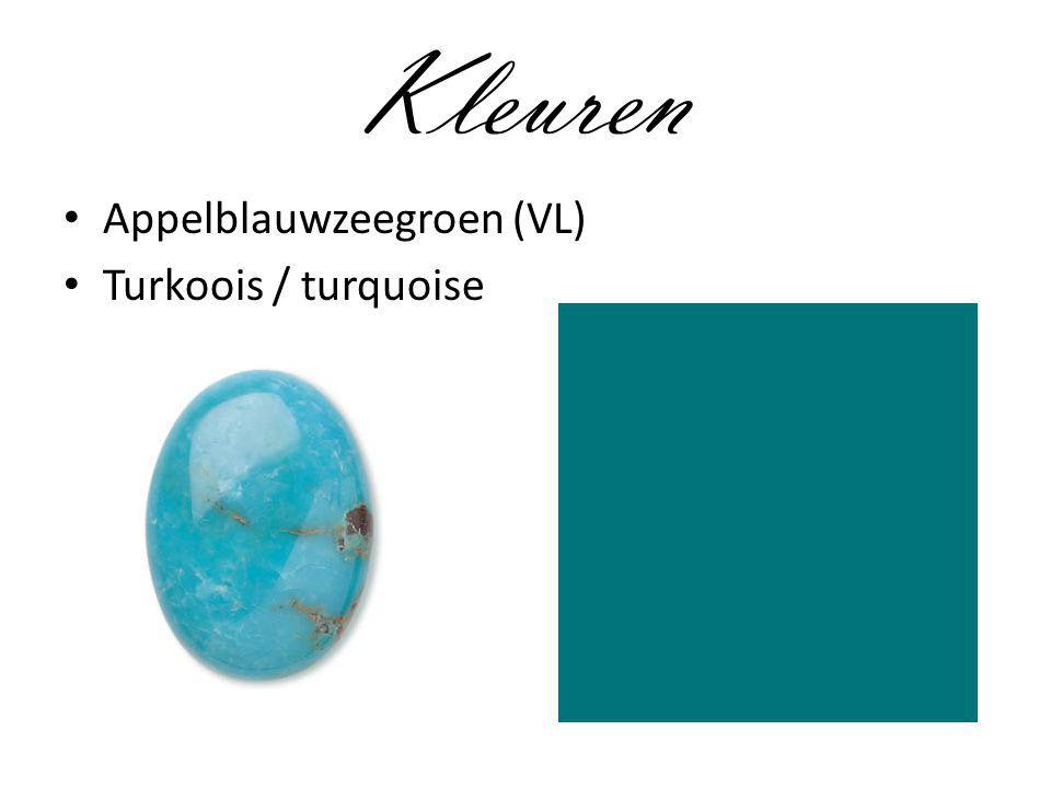 Kleuren Appelblauwzeegroen (VL) Turkoois / turquoise