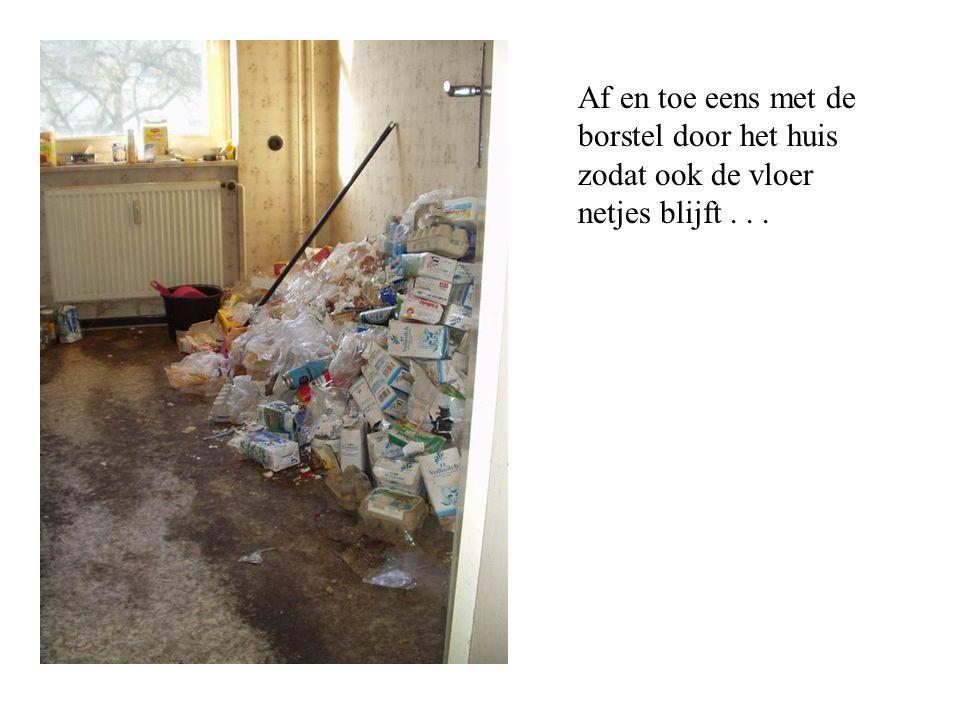 Af en toe eens met de borstel door het huis zodat ook de vloer netjes blijft...