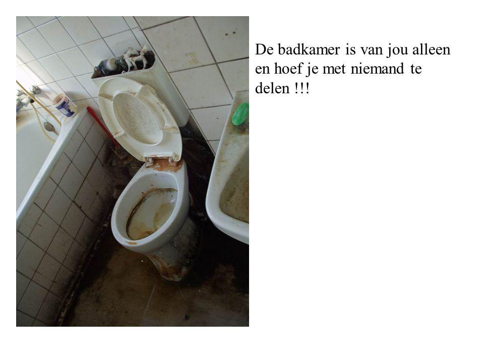 De badkamer is van jou alleen en hoef je met niemand te delen !!!