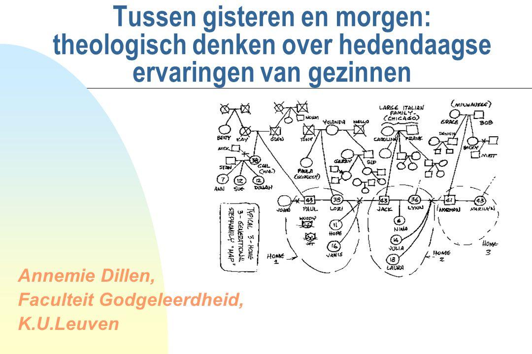 Tussen gisteren en morgen: theologisch denken over hedendaagse ervaringen van gezinnen Annemie Dillen, Faculteit Godgeleerdheid, K.U.Leuven
