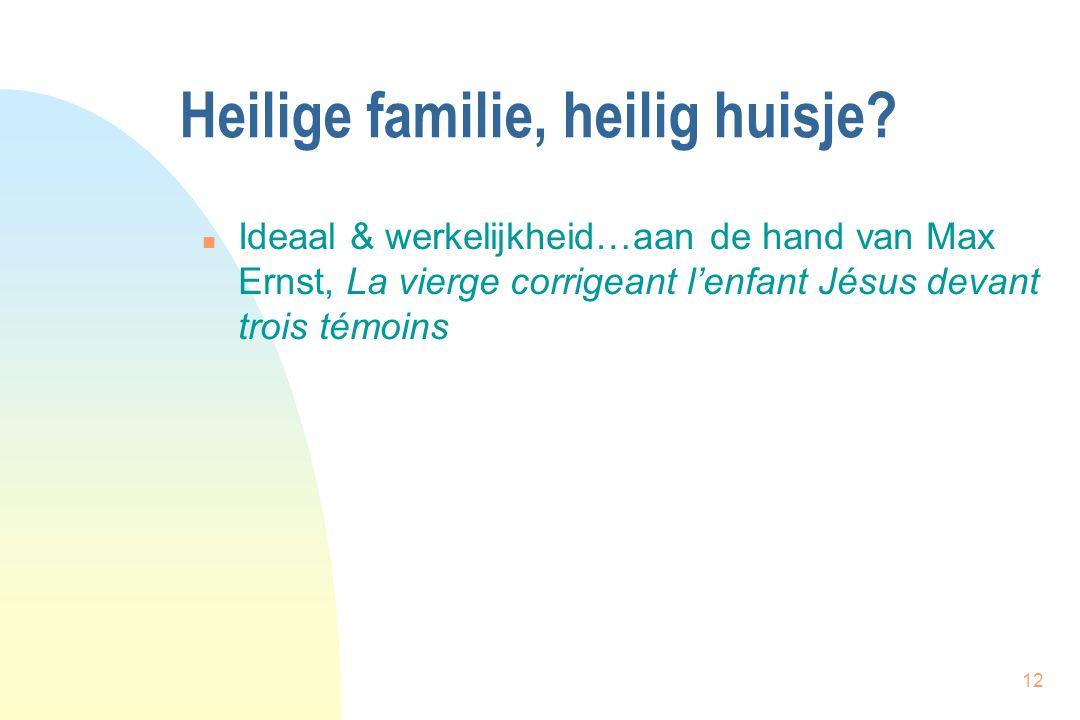 12 Heilige familie, heilig huisje? n Ideaal & werkelijkheid…aan de hand van Max Ernst, La vierge corrigeant l'enfant Jésus devant trois témoins