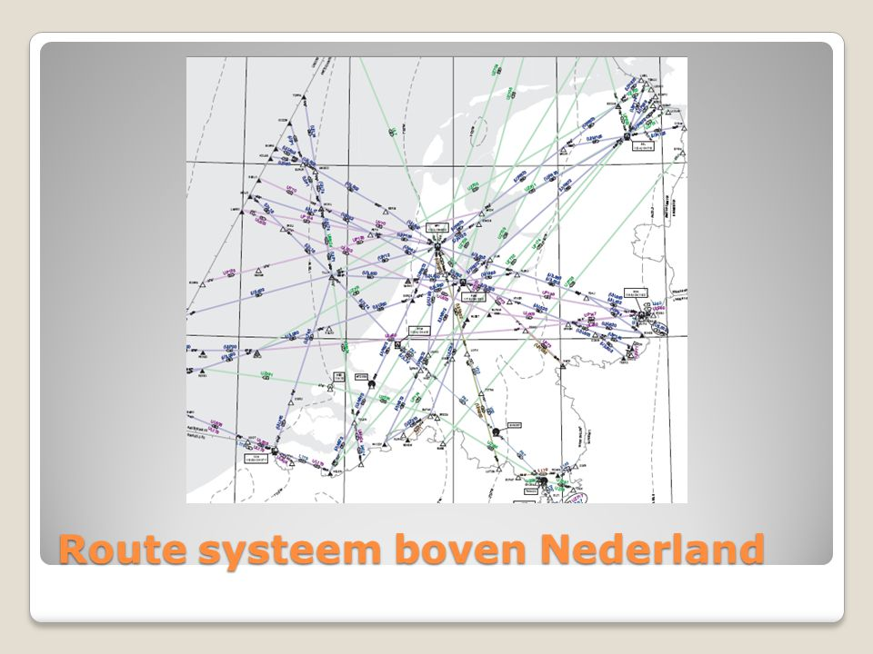 Route systeem boven Nederland