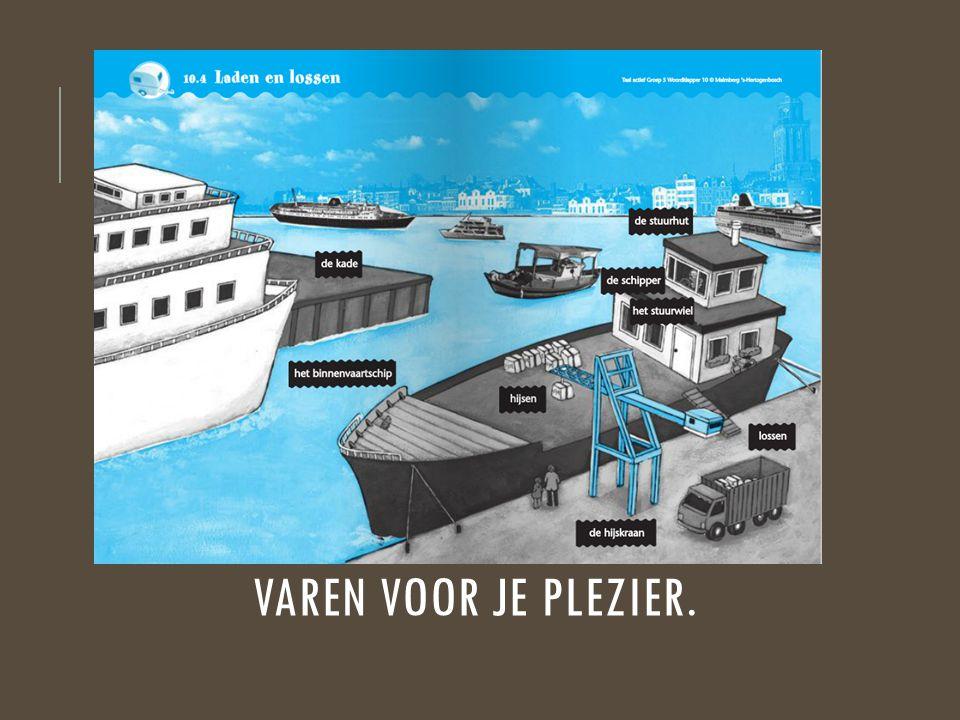 HET BINNENVAARTSCHIP Een schip dat op rivieren en kanalen vaart.