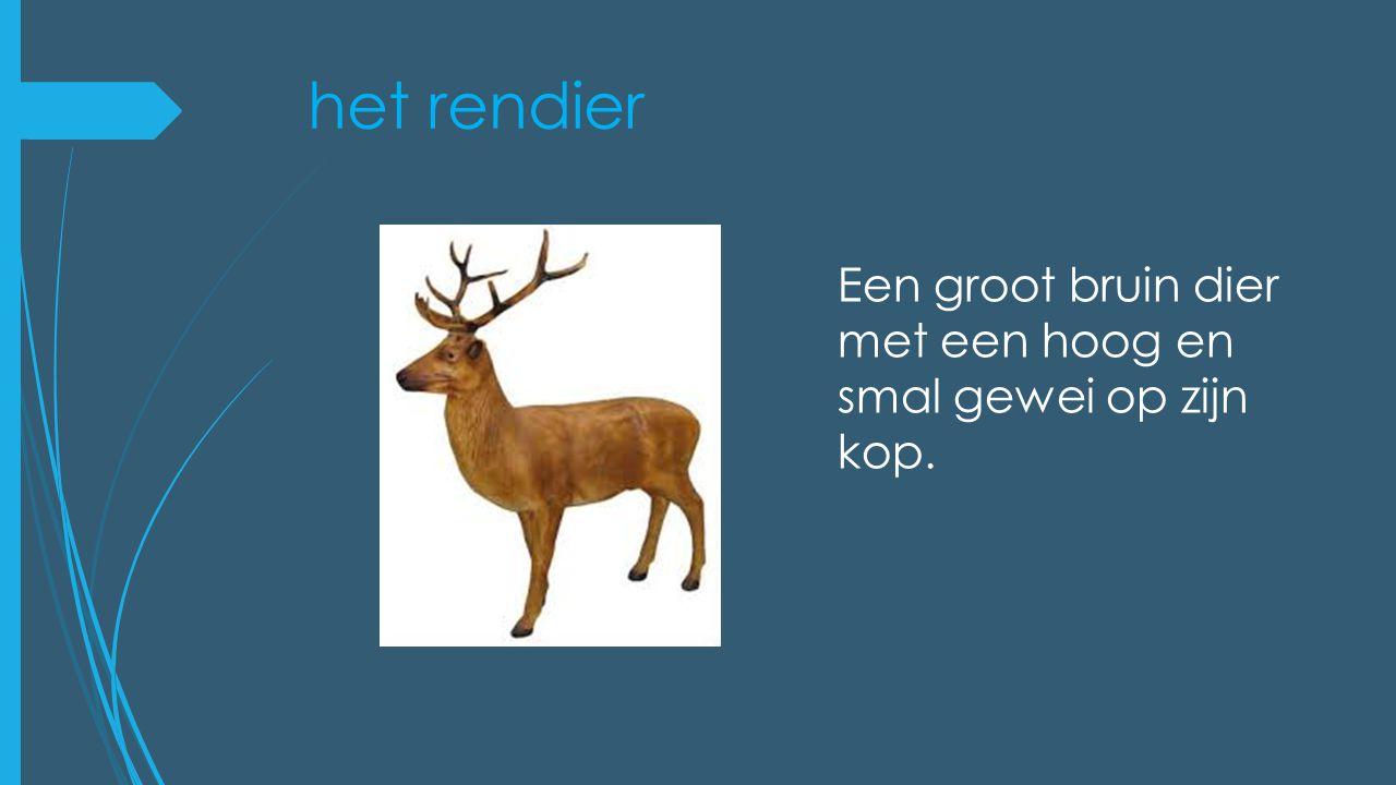 de eland Hij is groter dan een rendier en heeft een plat en breed gewei.