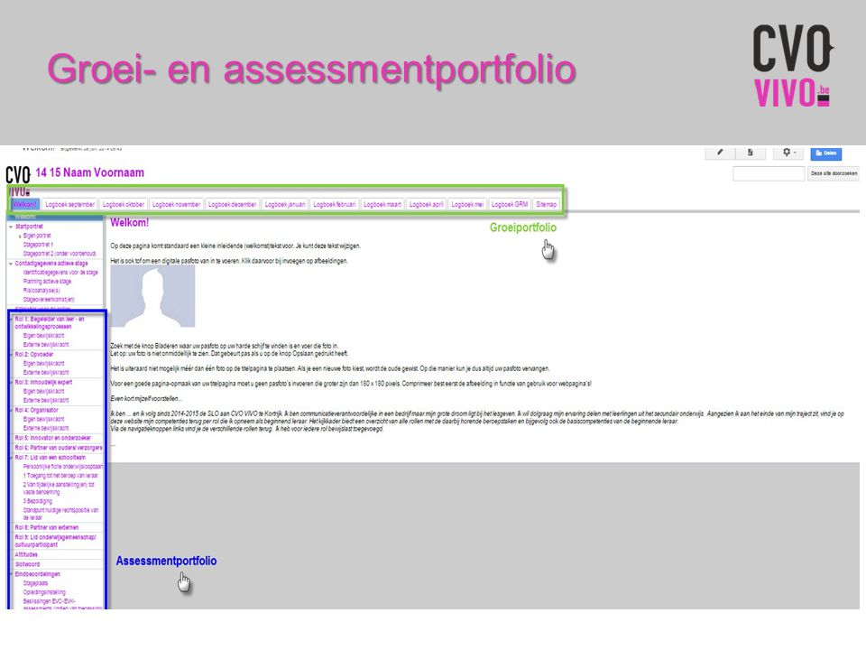 Groei- en assessmentportfolio
