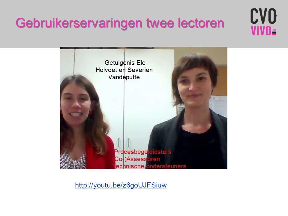 Gebruikerservaringen twee lectoren http://youtu.be/z6goUJFSiuw