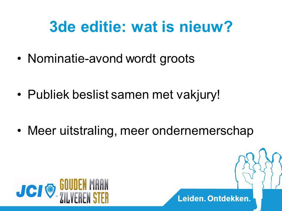 Leiden. Ontdekken. 3de editie: wat is nieuw.
