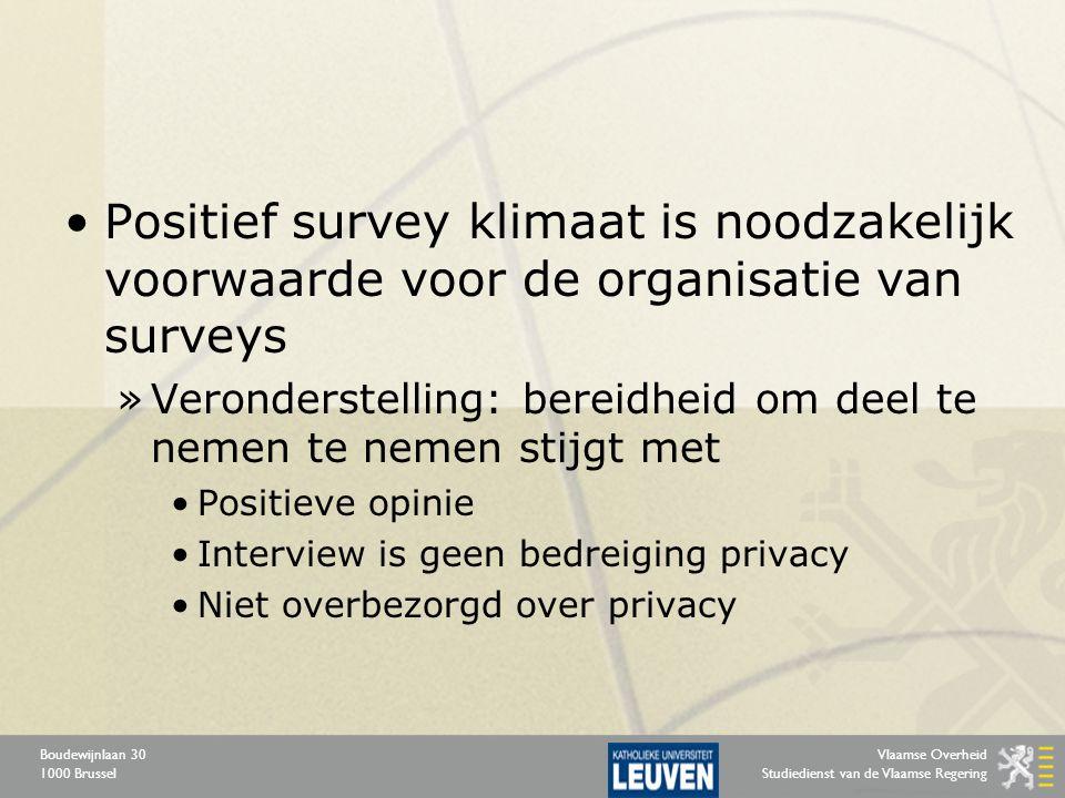 Vlaamse Overheid Studiedienst van de Vlaamse Regering Boudewijnlaan 30 1000 Brussel Positief survey klimaat is noodzakelijk voorwaarde voor de organis