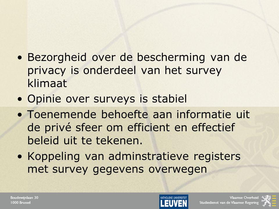 Vlaamse Overheid Studiedienst van de Vlaamse Regering Boudewijnlaan 30 1000 Brussel Bezorgheid over de bescherming van de privacy is onderdeel van het