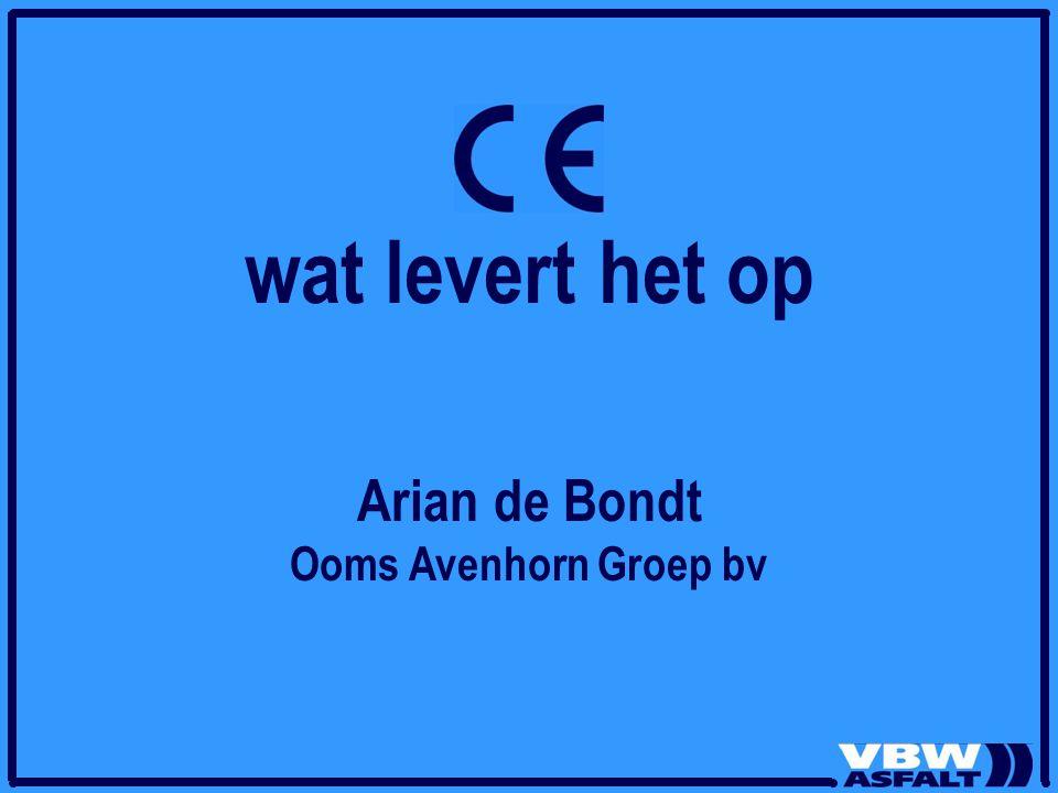 wat levert het op Arian de Bondt Ooms Avenhorn Groep bv