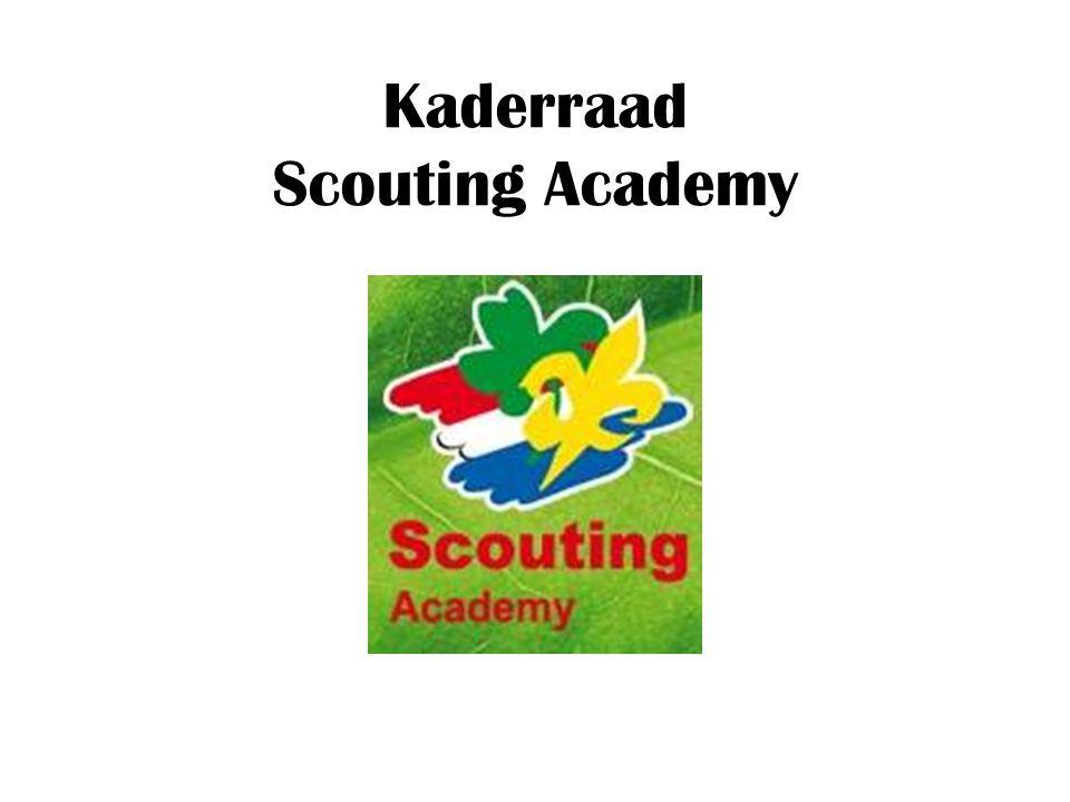 Inhoud : Informatie over de Scouting Academy Functie praktijkbegeleider Trainingen en cursussen