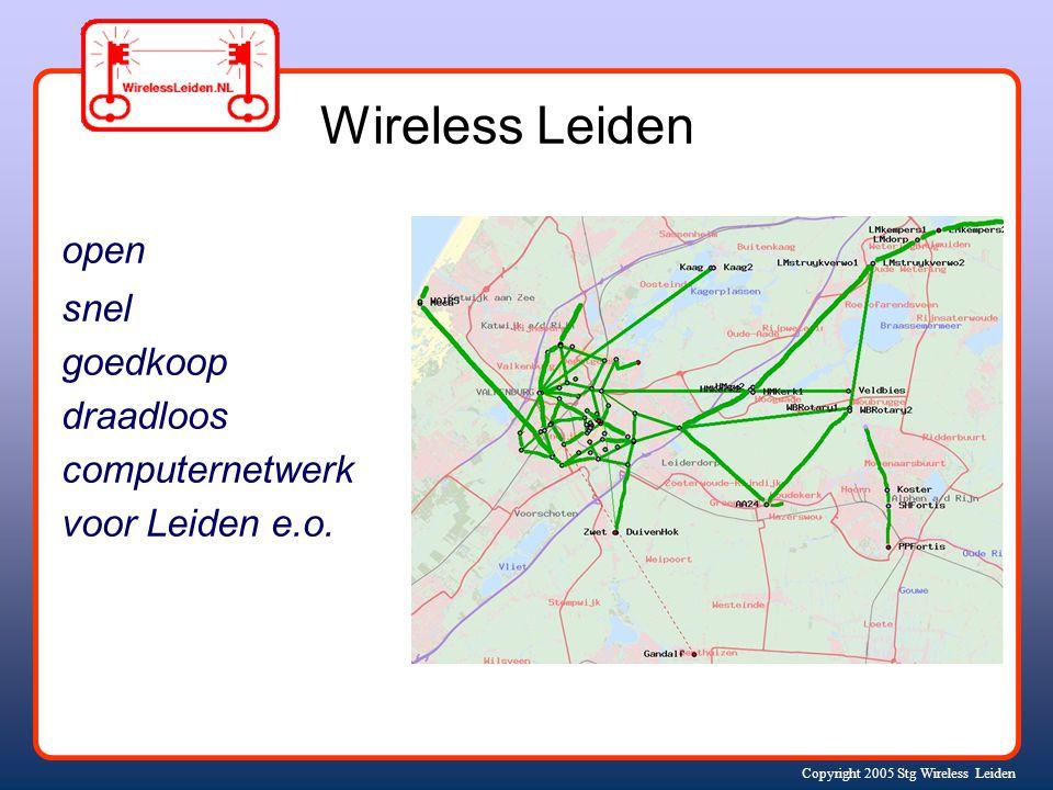 Copyright 2005 Stg Wireless Leiden open snel goedkoop draadloos computernetwerk voor Leiden e.o.