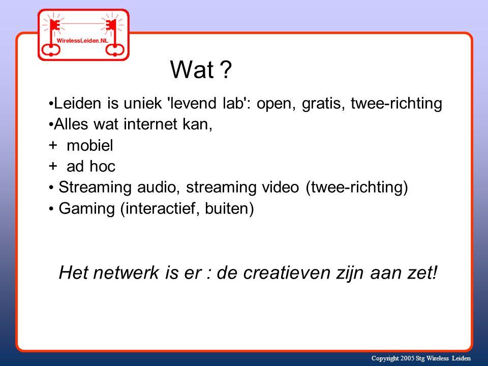 Copyright 2005 Stg Wireless Leiden Wat .
