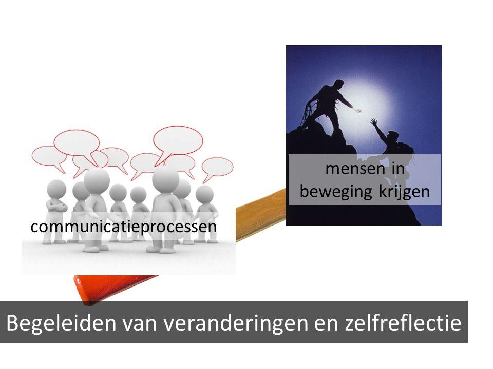 Begeleiden van veranderingen en zelfreflectie communicatieprocessen mensen in beweging krijgen