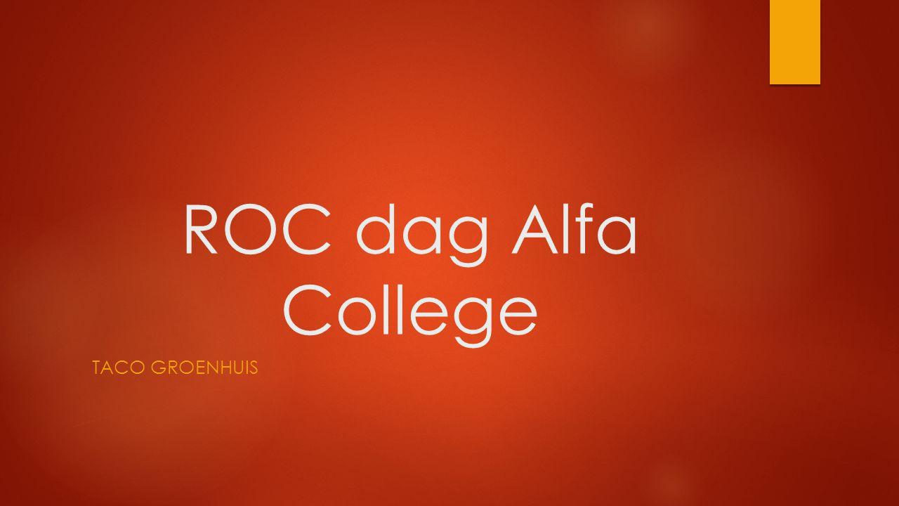 Indeling presentatie  ROC dag  Groepenverdeling  Voorbereiding  ROC dag  Nawoord