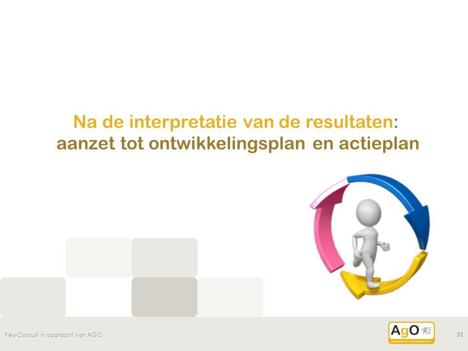 Na de interpretatie van de resultaten: aanzet tot ontwikkelingsplan en actieplan Key-Consult in opdracht van AGO31