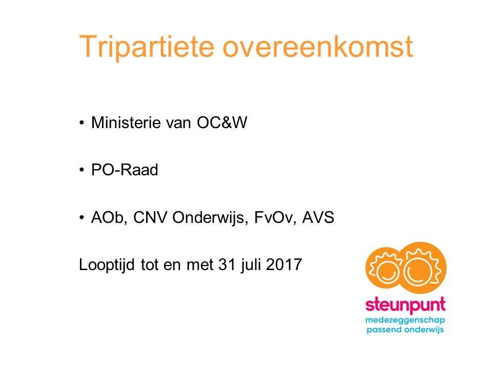 Tripartiete overeenkomst Ministerie van OC&W PO-Raad AOb, CNV Onderwijs, FvOv, AVS Looptijd tot en met 31 juli 2017