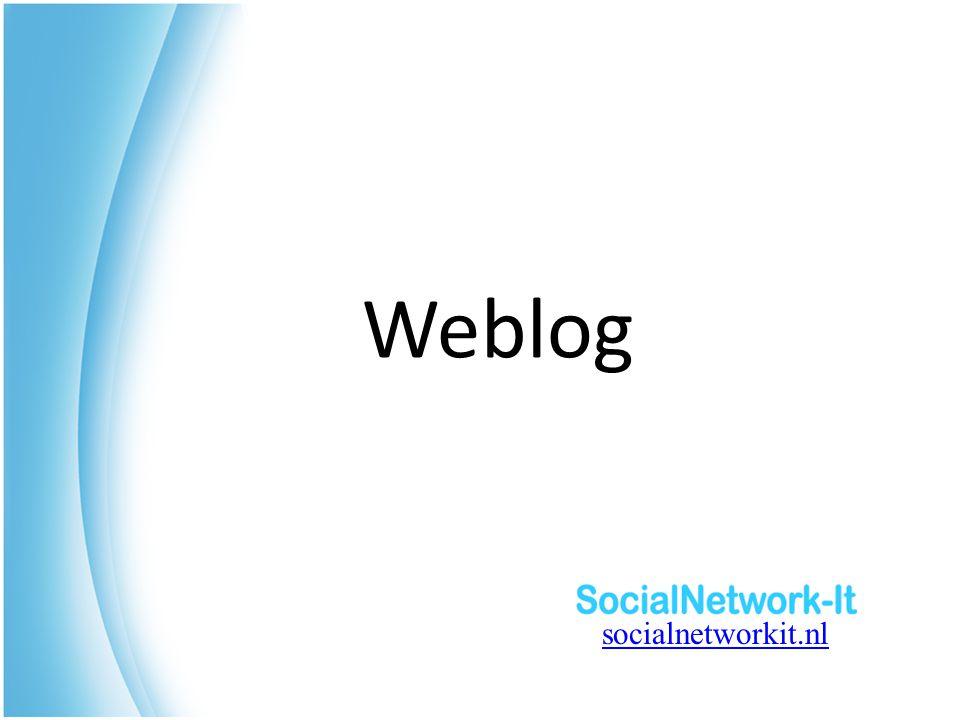 Weblog socialnetworkit.nl