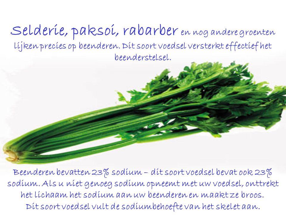 Selderie, paksoi, rabarber en nog andere groenten lijken precies op beenderen.