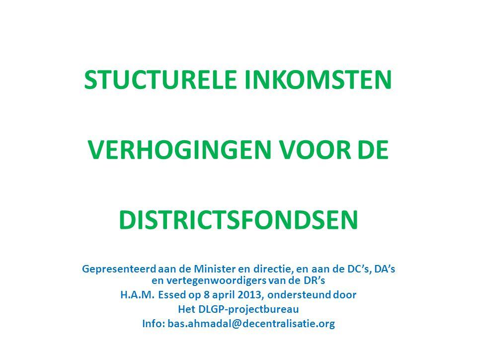 MEDEBEWINDSTAKEN Centrale overheid is verantwoordelijk Districten voeren uit of houden toezicht voorbeelden: - Toezicht naleving wettelijke regelingen - Toezicht openbare gezondheidszorg 2
