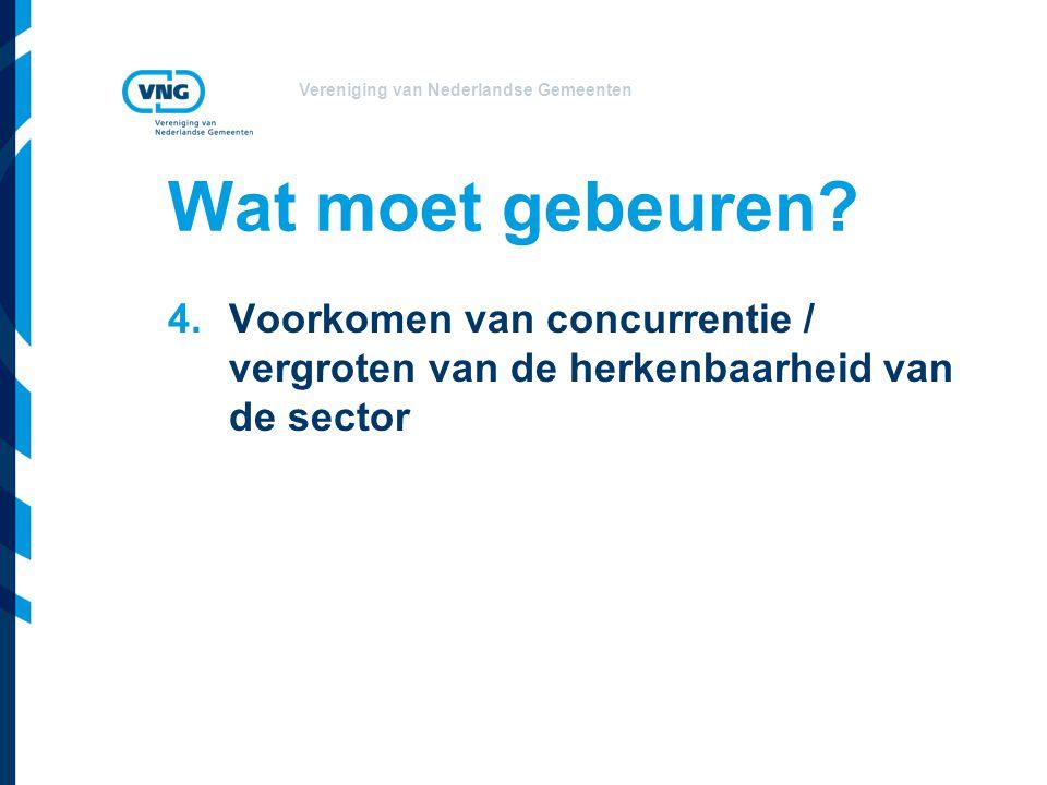 Vereniging van Nederlandse Gemeenten Wat moet gebeuren.