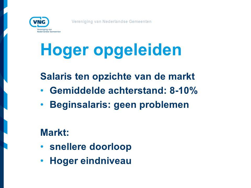 Vereniging van Nederlandse Gemeenten Uitgangspunten 1.Focus op wervingskracht en behoud personeel 2.Vergroting inzetbaarheid 3.Inzet op om-, her- bijscholing 4.Voorkomen van onderlinge concurrentie / vergroten herkenbaarheid van de sector