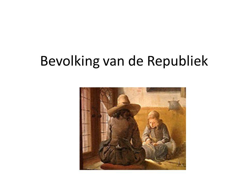 Migratie Vooral in de steden in Holland en Zeeland vestigden zich vele migranten.