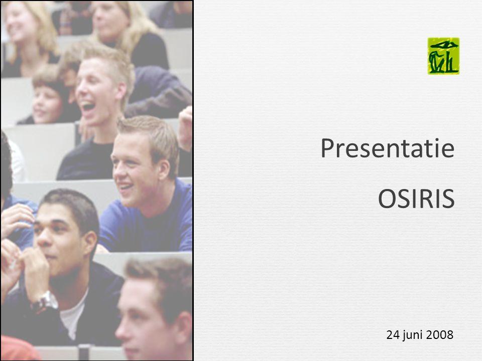 Presentatie OSIRIS 24 juni 2008