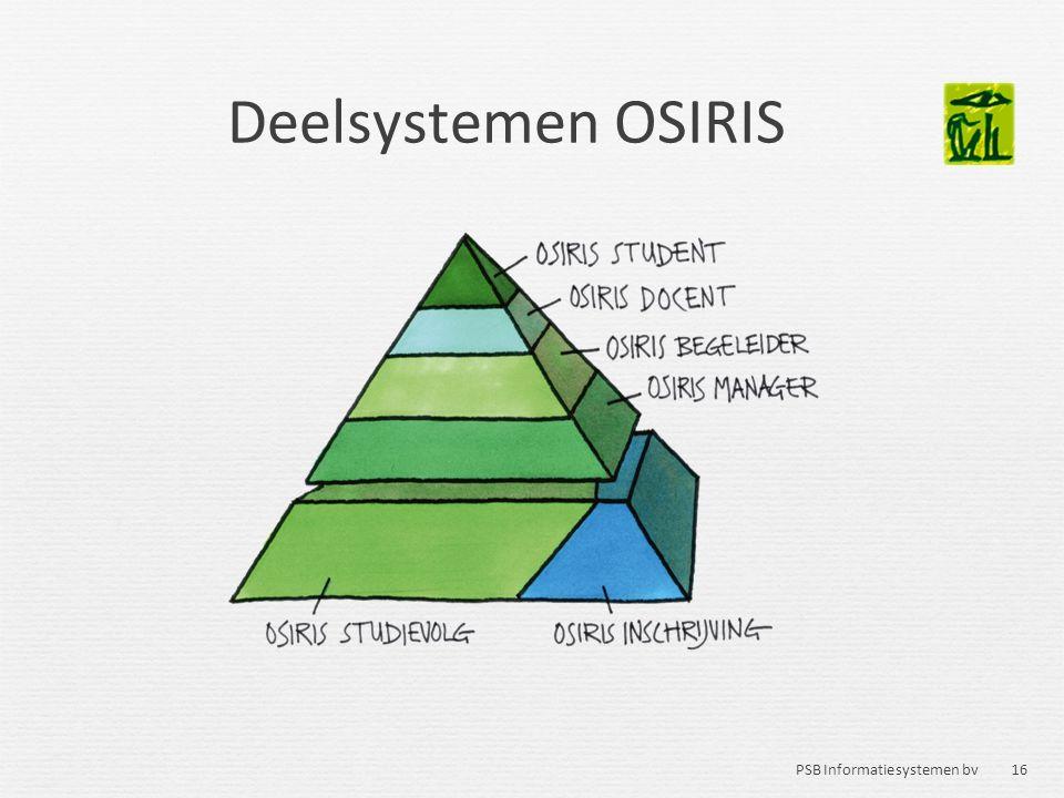 16 PSB Informatiesystemen bv Deelsystemen OSIRIS