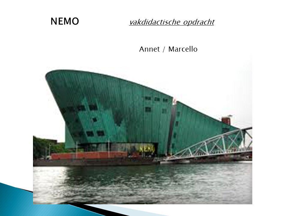 NEMO vakdidactische opdracht Annet / Marcello