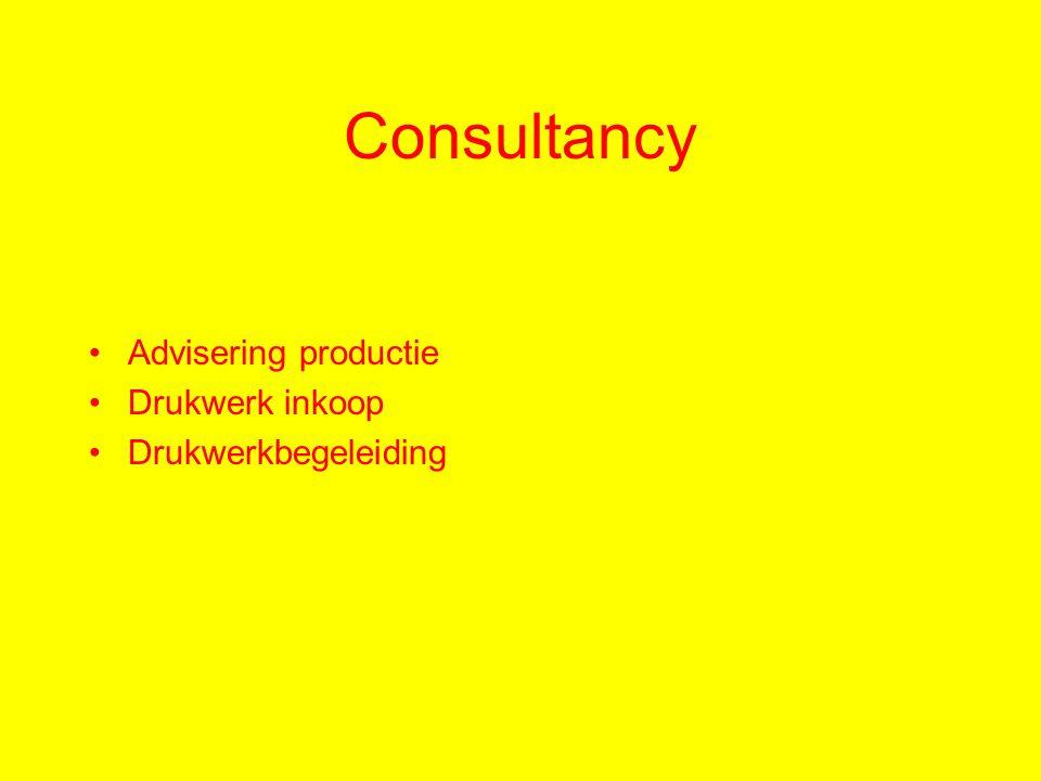 Consultancy Advisering productie Drukwerk inkoop Drukwerkbegeleiding