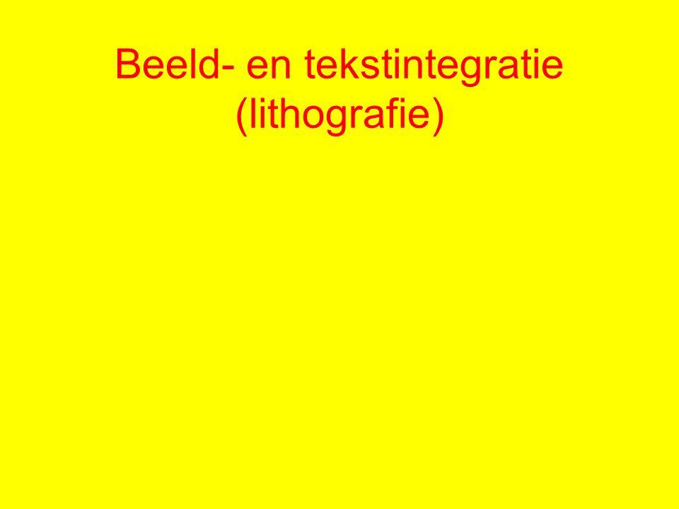 Beeld- en tekstintegratie (lithografie)