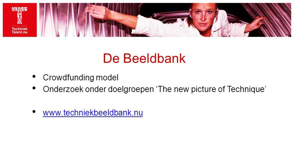 De Beeldbank Crowdfunding model Onderzoek onder doelgroepen 'The new picture of Technique' www.techniekbeeldbank.nu