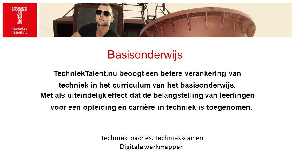 Basisonderwijs TechniekTalent.nu beoogt een betere verankering van techniek in het curriculum van het basisonderwijs.