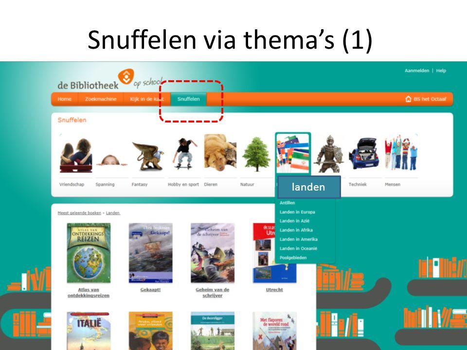 Snuffelen via thema's (1) landen