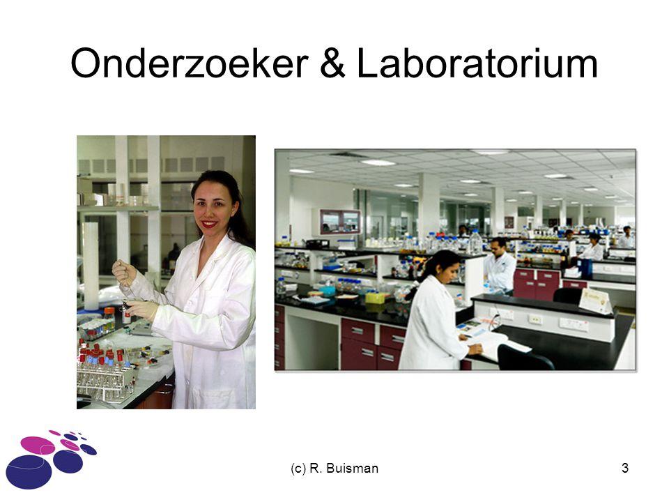 (c) R. Buisman3 Onderzoeker & Laboratorium