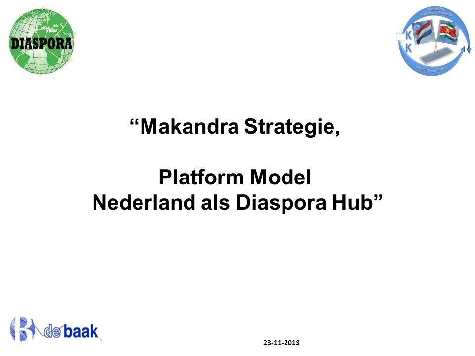 """23-11-2013 """"Makandra Strategie, Platform Model Nederland als Diaspora Hub"""""""